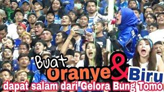 Saling Bersahutan Chant dari Bonek dan Viking di GBT Surabaya | Persebaya vs Persib