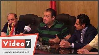 مؤتمر صحفى لمحافظ الفيوم للاحتفال بحفل إفطار خالد أبو بكر