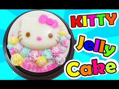 วิธีทำวุ้นเค้กวันเกิดคิตตี้ดอกไม้ - How to make Kitty Flower jelly cake (HBD)