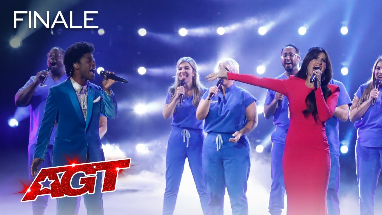 Download Idina Menzel Sings With Jimmie Herrod And Northwell Health Nurse Choir - America's Got Talent 2021
