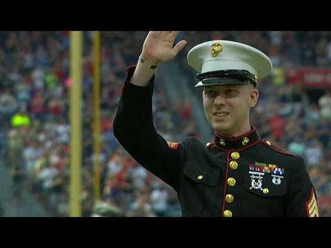 MIA@ATL: Marine honored during Memorial Day Weekend