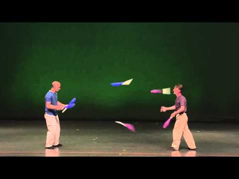 Leif Pettersen and Steve Birmingham (aka Duck and Cover) juggling teams championships 2014
