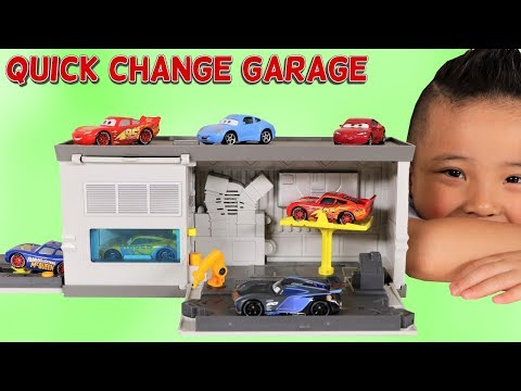 Disney Cars 3 Quick Change Garage Toy Unboxing Fun With Ckn Toys