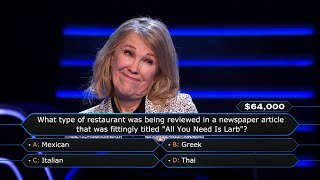 Catherine O'Hara Asks Host Jimmy Kimmel For Some Help - Who Wants To Be A Millionaire