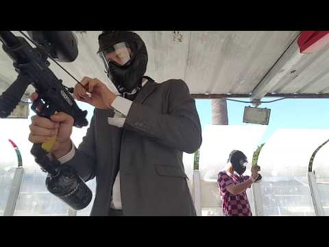 Paintball In Business Suit #5: Paintball practice range