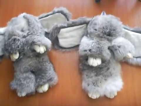 Брелоки из меха кролика своими руками