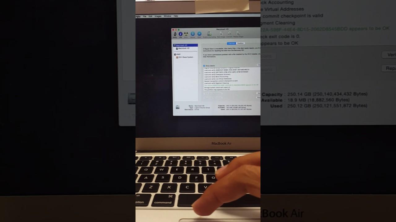 Macbook Air A1466 Folder File with a question mark, failed ...