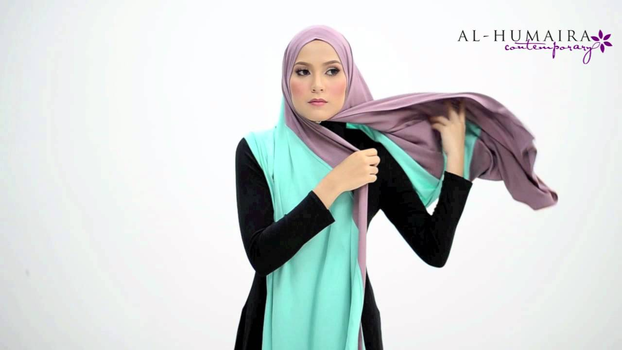 Xaniaa scarf styling tutorial by al-humaira contemporary youtube.