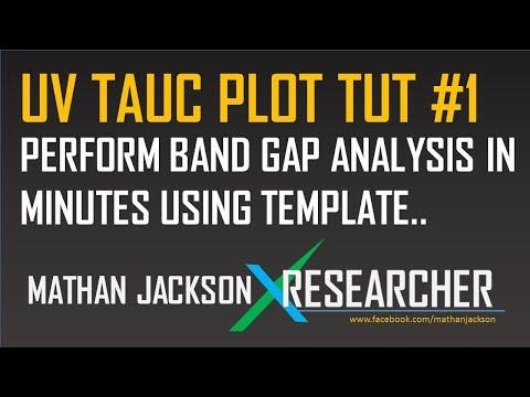 UV TAUC Plot Origin Tutorial 1