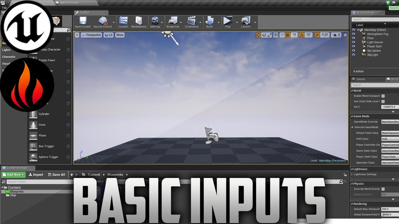Unreal engine 4 basic movement input 1 youtube unreal engine 4 basic movement input 1 malvernweather Gallery