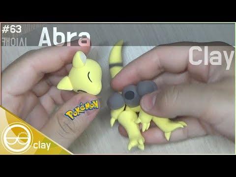 #63 DIY┃Abra (Pokemon) - super light clay Tutorial ┃Clay Figure┃BOADDA clay