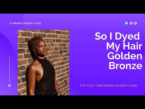 Dyeing My Brown Natural Hair To: Dark & Lovely Golden Bronze