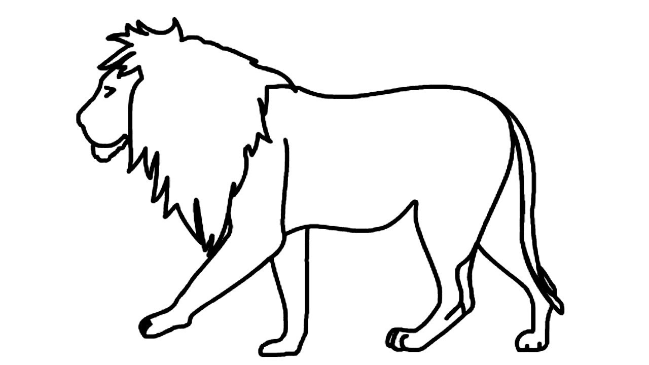 Coloring Pages-How to Draw a Lion:Step by Step Easy | how ...