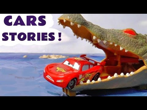 Disney Cars Toys Race Stories with Spiderman Minions Thomas and Friends Play Doh Giant Family Fun
