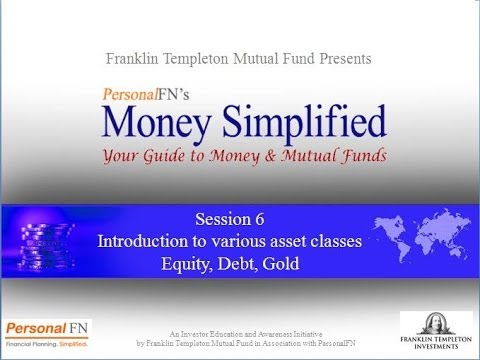 Session 6:Introduction to various asset classes - Equity, De