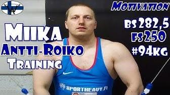 Miika Antti-Roiko (FIN, 94KG) | Olmypic Weightlifting Training | Motivation