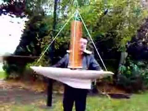Camoesas Worlds First Savonius Turbine Boat 2007 Youtube
