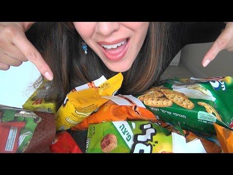 ASMR: Israeli Snacks |  חטיפים מישראל  | Snacks from Israel | Eating Sounds