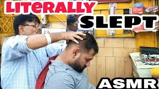 ASMR head massage with neck cracking By Indianbarber Sarwan