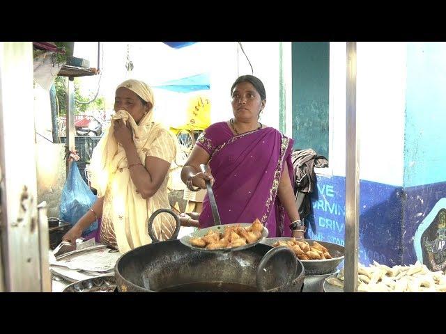 Street Style Onion Samosa Recipe In Telugu   ఉల్లి సమోసా   How To Make Onion Samosa   PDTV Foods