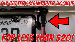 HOW TO - Easy DIY Battery Maintainer Quick Connection for Less Than $20!
