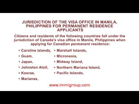Jurisdiction of the visa office in Manila, Philippines for permanent residence applicants