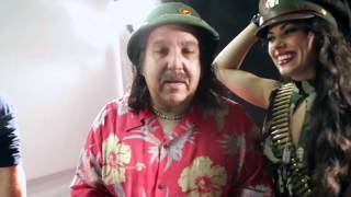 "Rhiannon & Ron Jeremy on set at music video ""Drop It Like A Bomb"" (song by Rhiannon)"