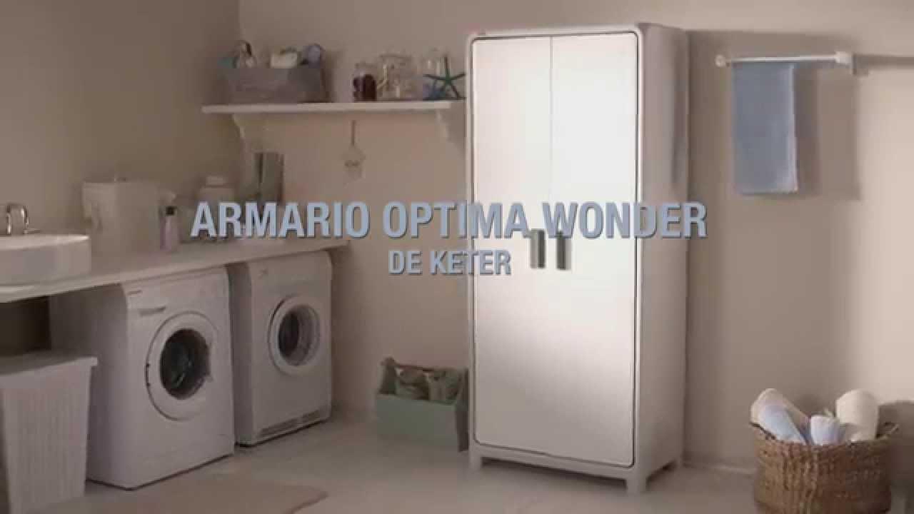 Keter  Optima Wonder armario  YouTube