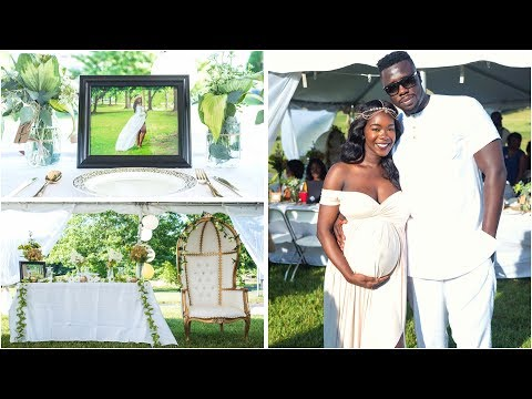 SHOCKING Gender Reveal + Sierra Leonean Baby Shower || Garden of Eden Theme ( Full Video )