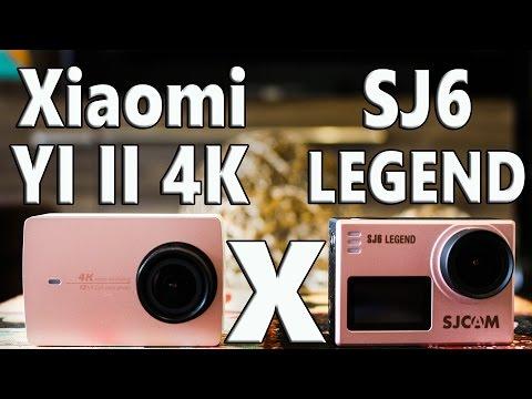 Comparação Xiaomi Yi II 4K X SJ6 Legend - Qual é a melhor câmera?