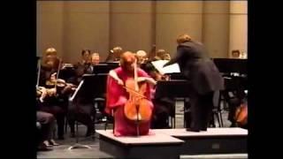 DVORAK CELLO CONCERTO 1ST MVT. ~ CHRISTINE WALEVSKA ~ PRO ARTE SYMPHONY LIVE - 1999
