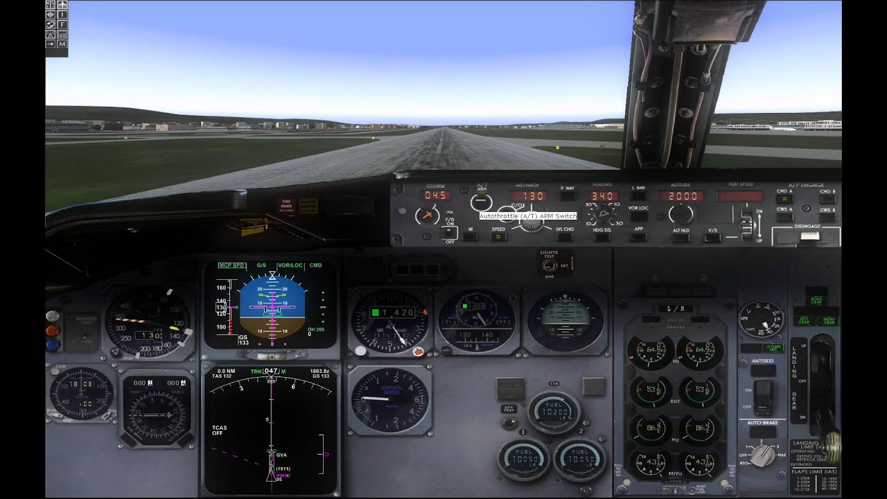 fs2004 lsgg geneva ils landing wilco feelthere just flight 737 rh youtube com