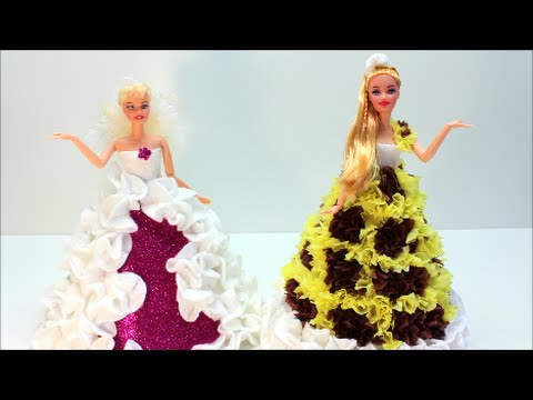 Doll Dress Fun How To Dress Up Your Dolls Craft Ideas Youtube
