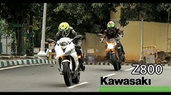 Kawasaki Z800 SC projects exhaust without baffle flyby india