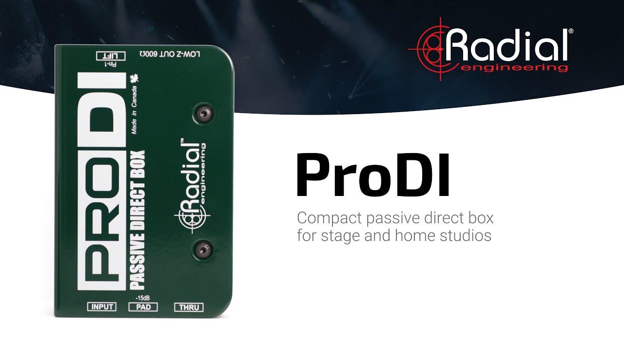 Radial Engineering ProDI Single Channel Passive Direct Box Pair 2