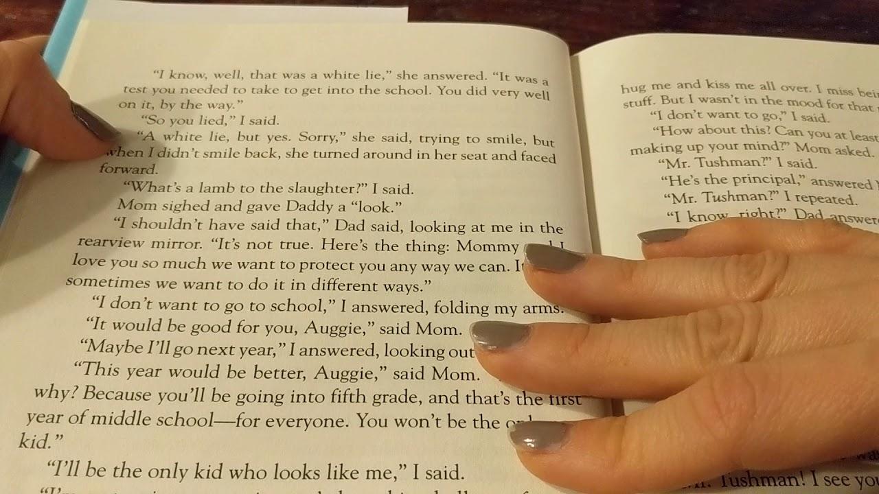 Wonder Read Aloud pages 10 - 14