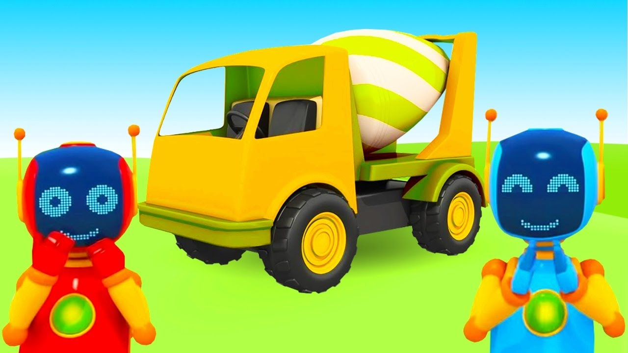 Construction vehicles cartoons for kids - Leo the truck & Mixer Truck for kids.