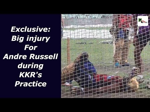 Shocking! Andre Russell gets a FATAL BLOW at the KKR nets | IPL 2019