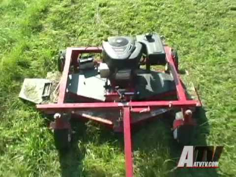 Atv Television Swisher T60 Trail Mower Review Youtube