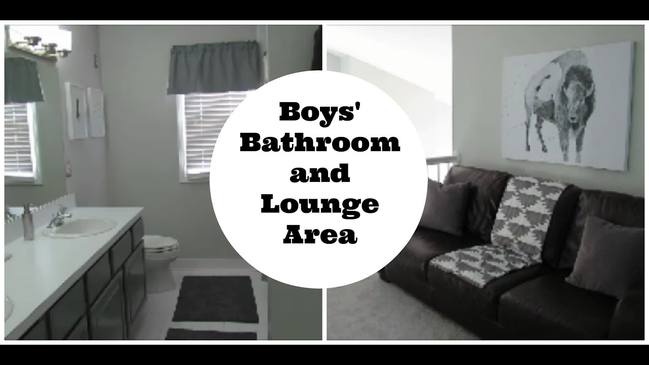 Home Decor and Renovation | Boys\' Bathroom and Lounge Area - YouTube