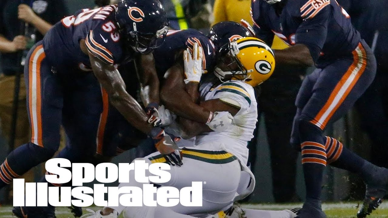 Green Bay Packers' Davante Adams taken off field on stretcher after vicious hit