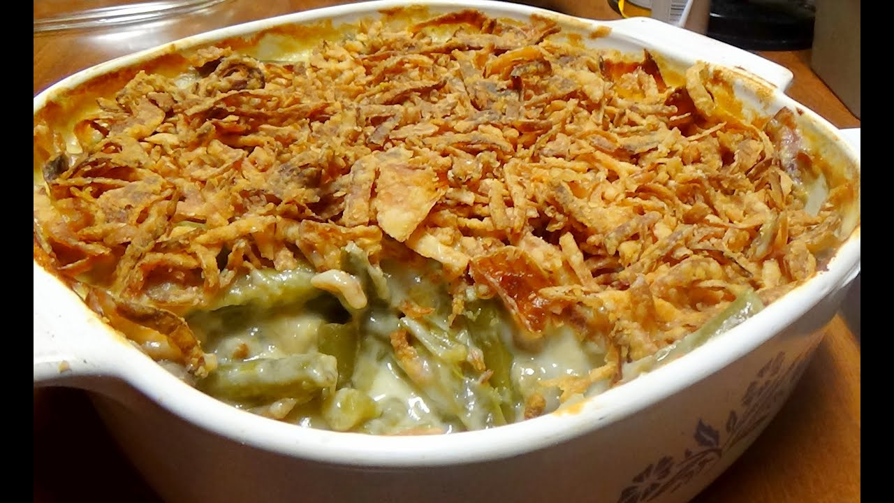 Classic Recipe for Green Bean Casserole with Homemade Cream of