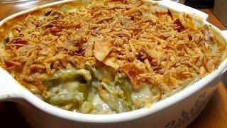 Classic Recipe for Green Bean Casserole with Homemade Cream of Mushroom Soup