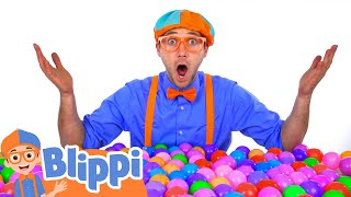 Blippi Learns Colors With Colorful Balls and Toys! | Educational Videos For Kids