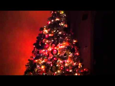 Christmas Tree With Blinking LED Lights - YouTube