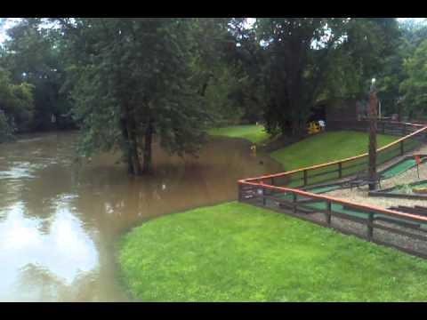 Canal Fulton Tuscarawas River Flood July 2013