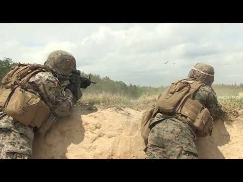 2nd Marine Division, conduct a squad exercise during training on Fort A.P. Hill