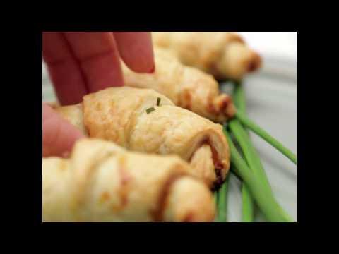 Des petits croissants roquefort et jambon : trop bon !