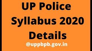 # UP Police Syllabus 2020 Details @uppbpb.gov.in
