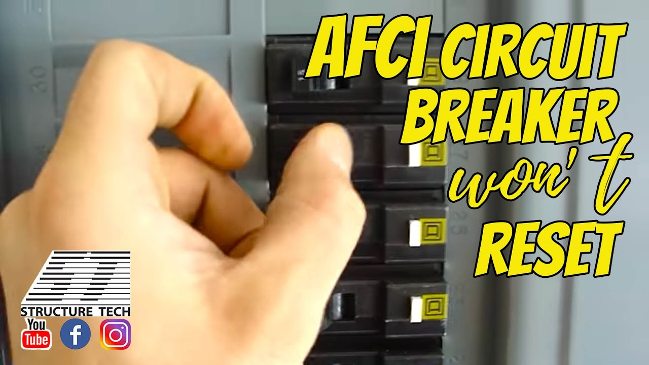 maxresdefault afci circuit breaker won't reset youtube fuse box trip switch will not reset at reclaimingppi.co